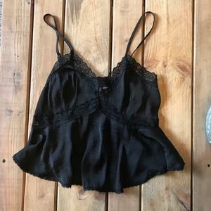 Urban Outfitters Kimchi Black Lace Tank Top